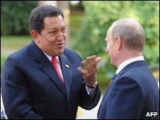 Hugo Chavez and Vladimir Putin, 10 Sept 2009