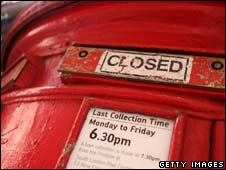 Post box closed due to strike