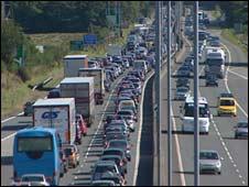 Traffic jam on