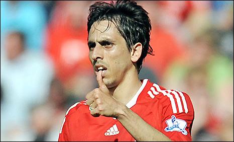 Liverpool midfielder Yossi Benayoun