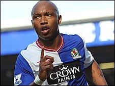 El Hadji Diouf celebrates Blackburn's opener