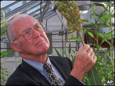 Norman Borlaug in Texas in 1996