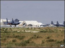 Bagram air base on 11 Sept 2009