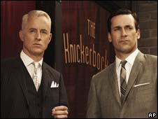 Roger Cooper and Don Draper, characters in TV show Mad Men