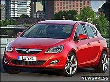 Opel Astra in Frankfurt