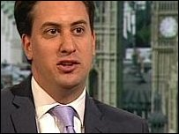 Energy and Climate Secretart Ed Miliband