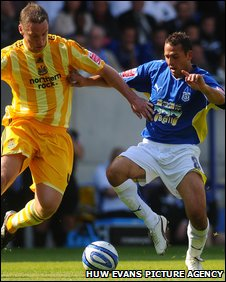 Much was expected from Michael Chopra (right) against his hometown club