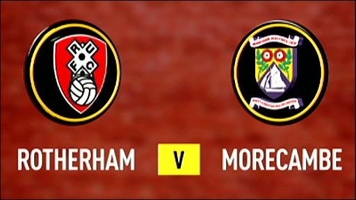 Rotherham v Morecambe