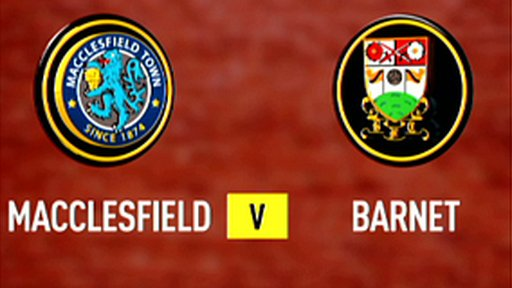 Highlights: Macclesfield 1-1 Barnet
