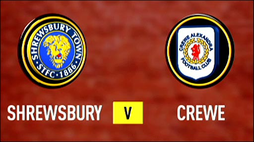 Shrewsbury v Crewe