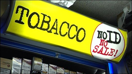 Underage sale of tobacco warning
