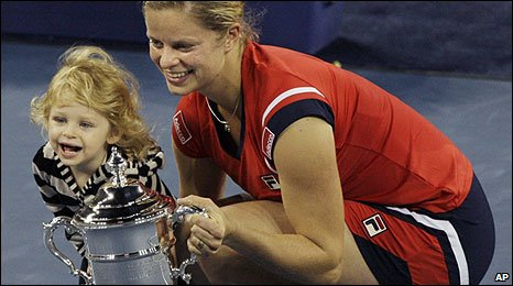 Kim Clijsters with daughter Jada