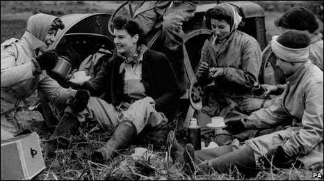 Women of the Land Army in 1941.