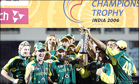 Australia celebrate winning the Champions Trophy in India