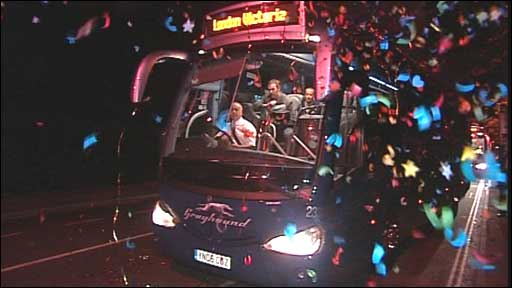 Greyhound bus gets big send-off from Southampton