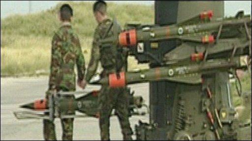 The missile test range on Benbecula