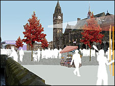 Design of Rochdale's new town hall square