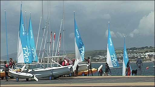 Yachts at Weymouth and Portland sailing academy