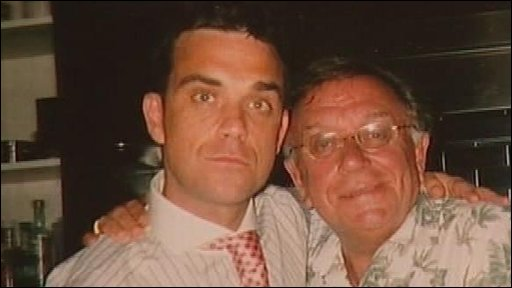 Robbie Williams and Pete Conway