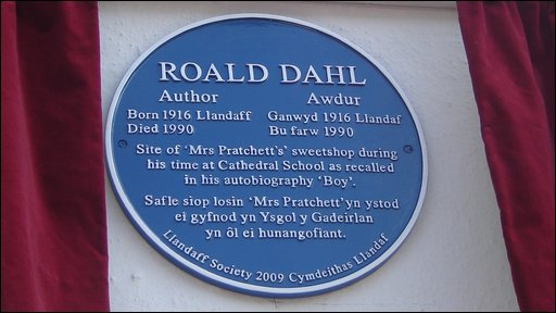 Roald Dahl plaque
