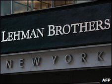 Lehman Brothers in New York one year ago