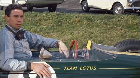 Jim Clark in a Lotus in the team's heyday