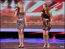 Contestants on the X-factor