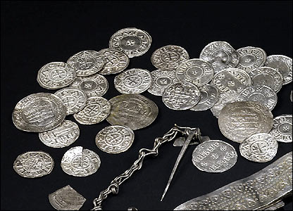 Coins from the Vale of York Hoard after cleaning (British Museum)