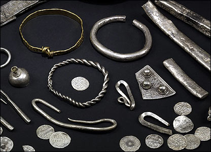 Jewellry, ingots and 'hack-silver' from the Vale of York Hoard. Picture: British Museum.