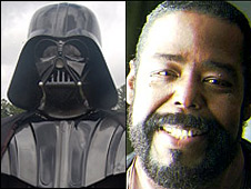 Darth Vader (L) and Barry White (R)