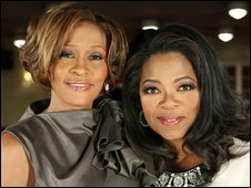Oprah Winfrey and Whitney Houston