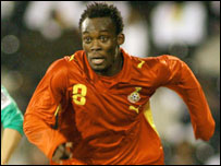 Michael Essien in action for Ghana