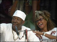 Bobby Brown and Whitney Houston in 2003