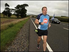 Eddie Izzard's ultra marathons (picture by Amanda Searle)