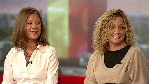 Former Lehman Brothers staff Natasha Rogoff and Tineke Purnell