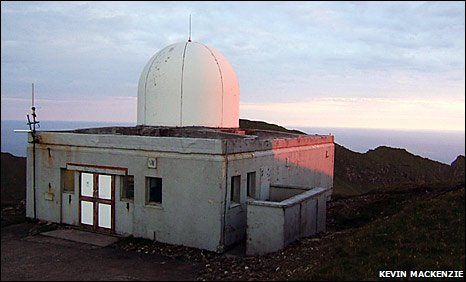 Tracking station building on St Kilda