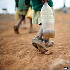 Carrying muddy water in Ethiopian drought