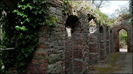 Ruins within the grounds at Ruthin Castle Hotel