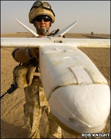 British soldier with UAV
