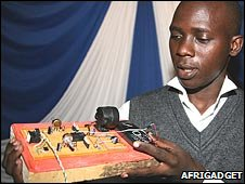 Pascal Katana with his Fish Detector, courtesy of Afrigadget