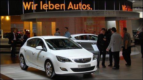Opel stand at Frankfurt motor show