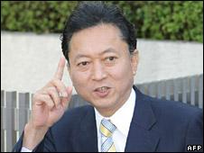 Yukio Hatoyama in Tokyo on 16 September 2009
