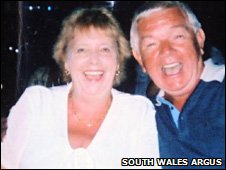 Maureen Foxwell and her husband Barry  Photo: South Wales Argus