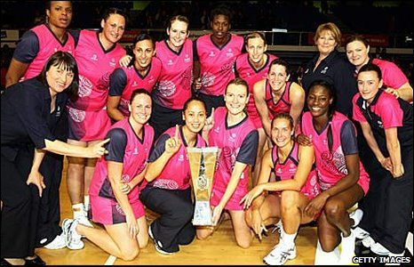The Pink Ladies netball team