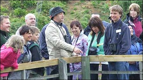 Chris Packham entertains visitors to Minsmere