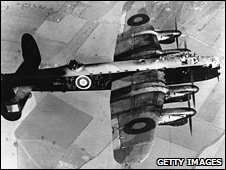 Lancaster Bomber in flight