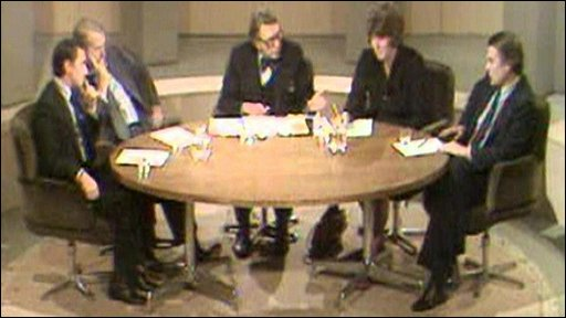 David Steel and David Owen on the Question Time panel