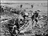 British troops at Arras, 1917