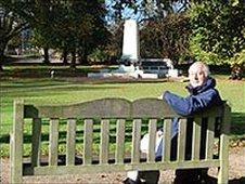 John Field on the Arras bench in Ipswich, UK
