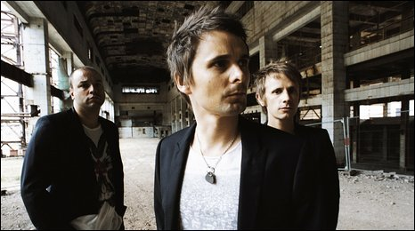 Muse: (l-r) Chris Wolstenholme, Matt Bellamy and Dom Howard